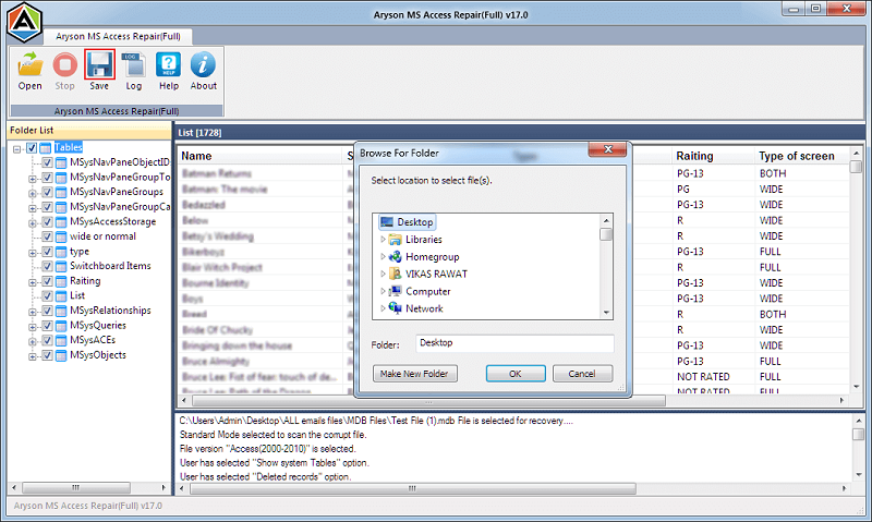 MS Access Database Recovery 17