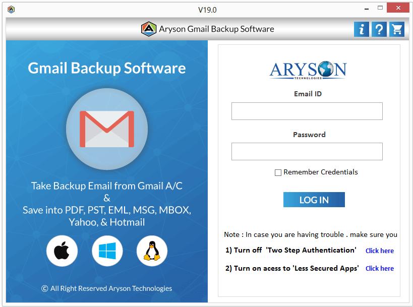 Gmail Backup Software to Take Backup Google Mail Account