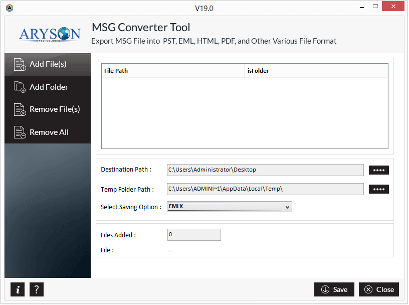 MSG File Converter Tool to Converts MSG to EML, MBOX, PDF & PST