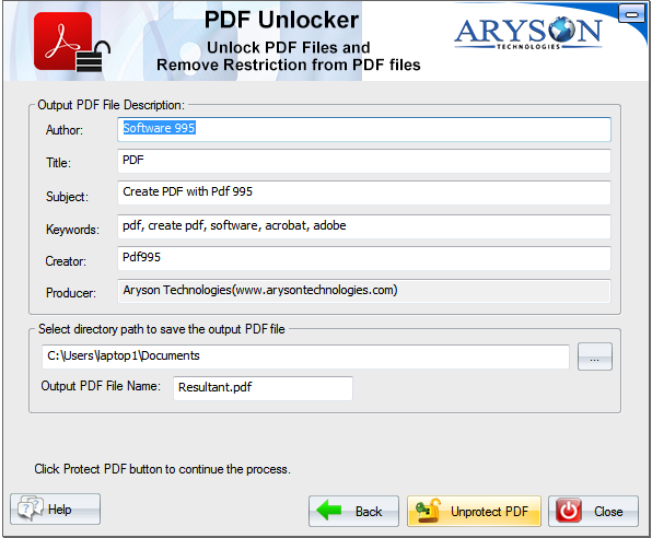 PDF Unlocker Tool to Remove or Unlock PDF Security & Restrictions