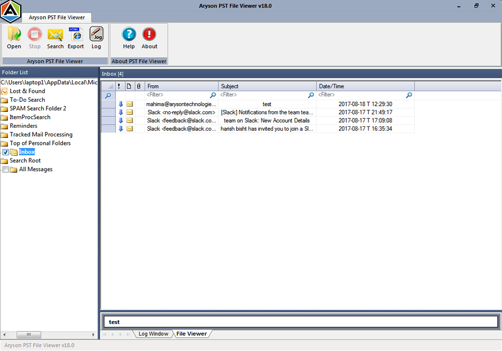Free Pst Viewer Tool To View Or Open Pst File Without Outlook