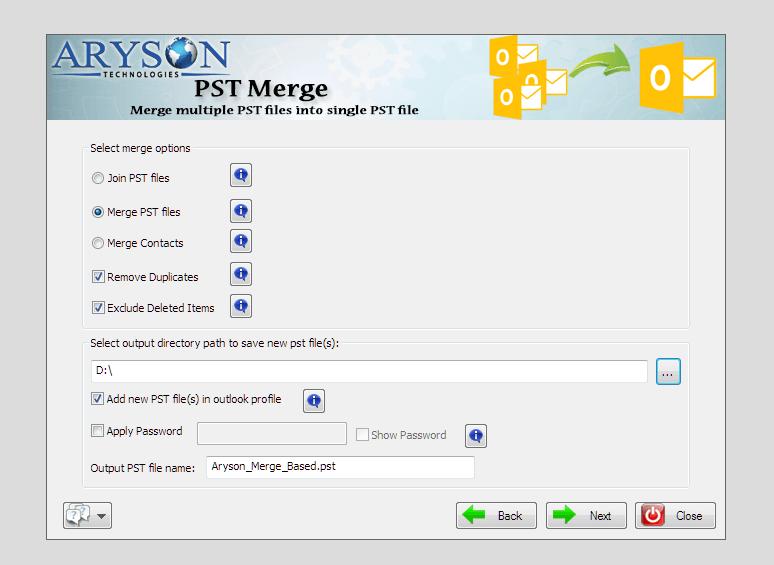 Merge Multiple PST Files 24 BEorFK