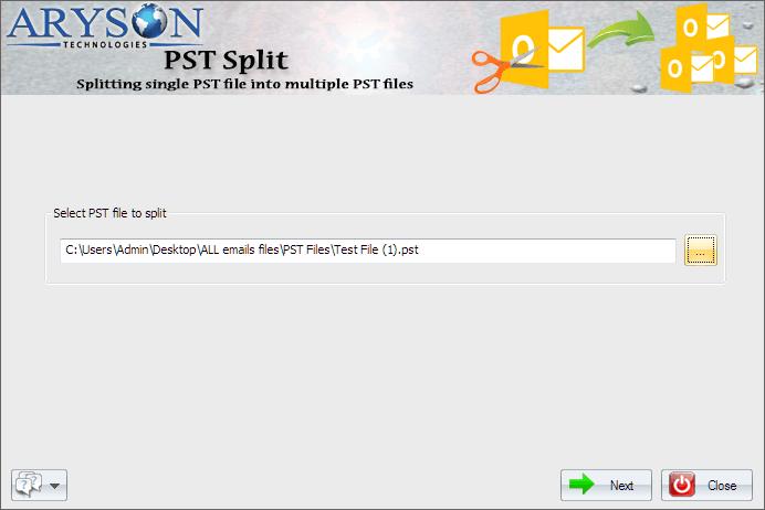Split PST Software full screenshot