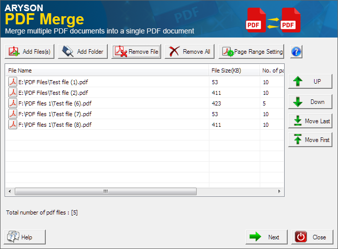 screenshot of aryson pdf merge software39s interface With pdf documents merge software