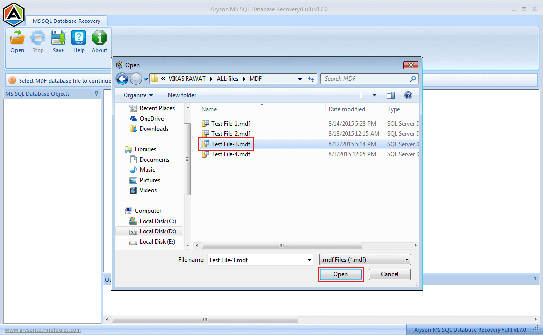 Aryson SQL Database Recovery