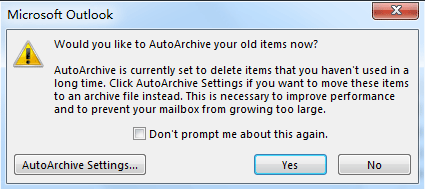 Outlook Archive PST File is Not Empty but Old Emails Don't