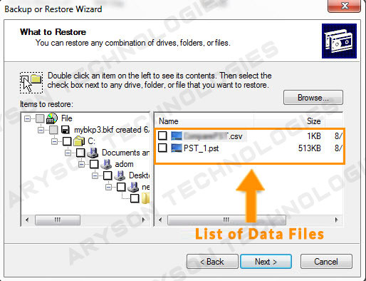 BKF File Extractor to Restore & Extract Data from Corrupted