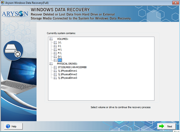 Aryson Windows Data Recovery Software