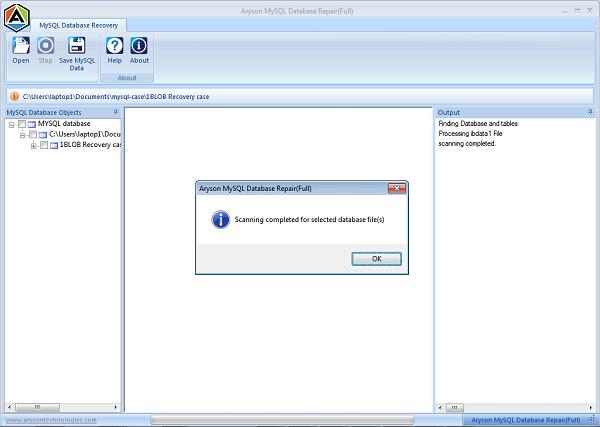 Aryson MySQL Database Repair 18.0