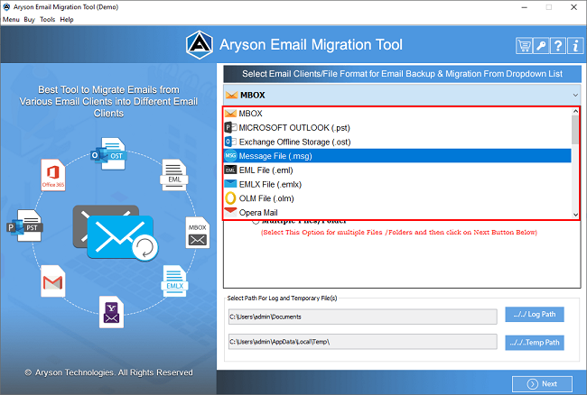 email migration, email conversion, email migration software, email converter software, email backup software, email migrator software, email migration tool, aryson email migration