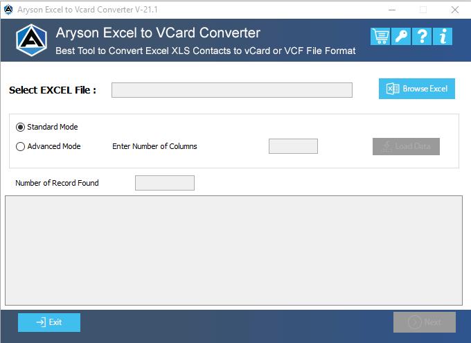 excel to vcard, convert excel to vcard, convert excel to vcf, excel to vcard converter, excel to vcf converter, excel to vcf, excel converter, aryson excel to vcard converter