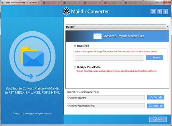 Windows 7 Aryson Maildir Converter 19.0 full