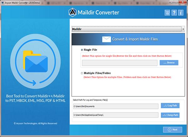 Maildir converter software, Maildir converter tool, Maildir file converter, Maildir conversion, transfer Maildir to PDF, Maildir to EML, Maildir to Outlook