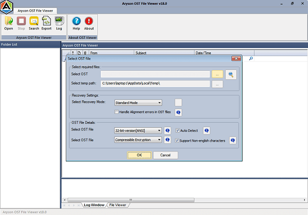 OST File Viewer full screenshot