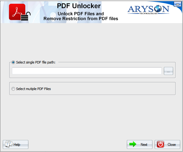 PDF Unlocker Software full screenshot
