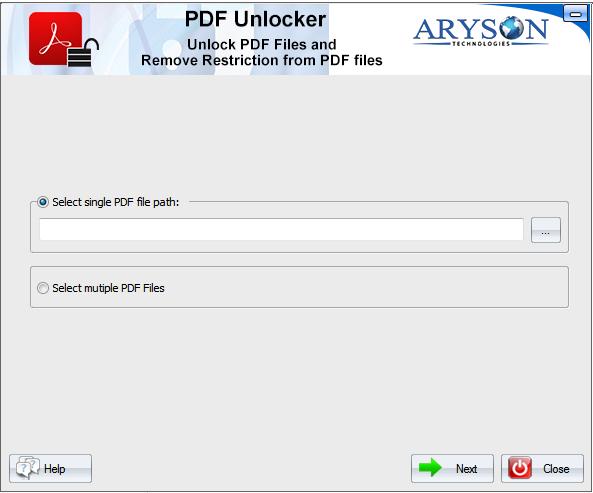 PDF File Unlocker 18.0