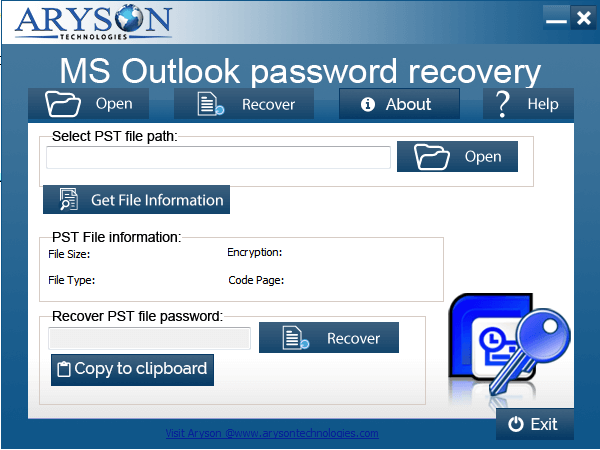 Aryson Outlook Password Recovery