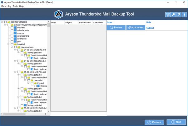 Aryson Thunderbird Backup Tool