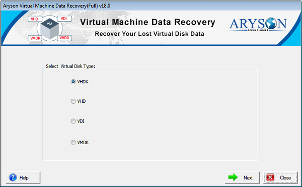 Try Virtual Machine Data Recovery Tool