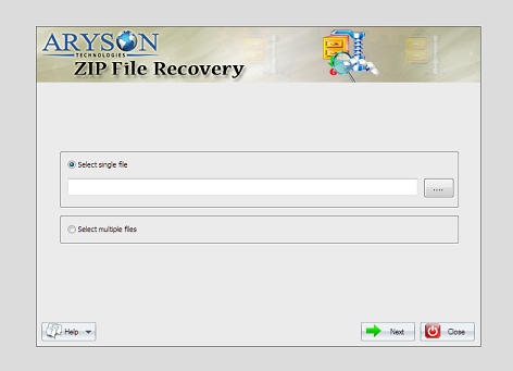Aryson ZIP File Repair Screen shot